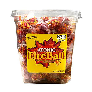 All City Candy Atomic FireBall Cinnamon Flavored Candy - Tub of 240 Jawbreakers Ferrara Candy Company For fresh candy and great service, visit www.allcitycandy.com