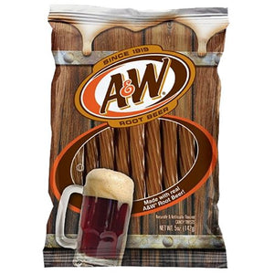 All City Candy A&W Root Beer Licorice Twists Licorice Kenny's Candy Company 5-oz. Bag For fresh candy and great service, visit www.allcitycandy.com