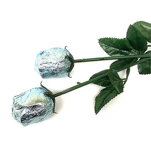 All City Candy Baby Blue Foiled Belgian Chocolate Color Splash Roses Chocolate Albert's Candy 1 Piece For fresh candy and great service, visit www.allcitycandy.com