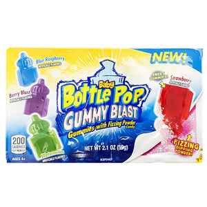 All City Candy Baby Bottle Pop Gummy Blast Gummies with Fizzing Powder 2.1 oz. Gummi Topps For fresh candy and great service, visit www.allcitycandy.com