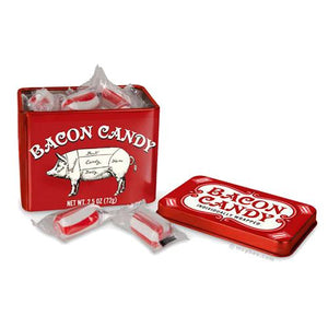All City Candy Bacon Hard Candy - 2.5-oz. Tin Hard Archie McPhee For fresh candy and great service, visit www.allcitycandy.com