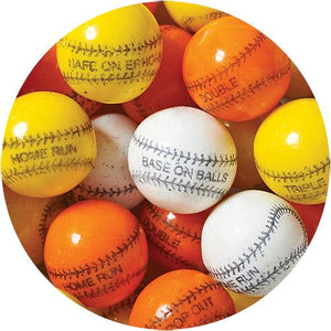 "All City Candy Baseball 1"" Gumballs - 3 LB Bulk Bag Bulk Unwrapped SweetWorks For fresh candy and great service, visit www.allcitycandy.com"
