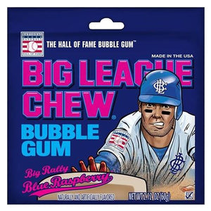 All City Candy Big League Chew Big Rally Blue Raspberry Bubble Gum - 2.12-oz. Bag Gum/Bubble Gum Ford Gum & Machine Company For fresh candy and great service, visit www.allcitycandy.com
