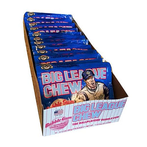 All City Candy Big League Chew Cotton Candy Bubble Gum - 2.12-oz. Bag Gum/Bubble Gum Ford Gum & Machine Company Case of 12 For fresh candy and great service, visit www.allcitycandy.com