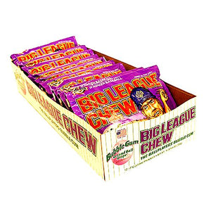 All City Candy Big League Chew Groundball Grape Bubble Gum - 2.12-oz. Bag Gum/Bubble Gum Ford Gum & Machine Company Case of 12 For fresh candy and great service, visit www.allcitycandy.com