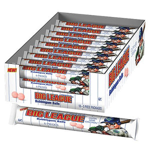 All City Candy Big League Chew Outta Here Original Bubblegum Balls - 5-Piece Tube Gum/Bubble Gum Ford Gum & Machine Company Case of 18 For fresh candy and great service, visit www.allcitycandy.com