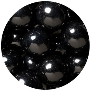 All City Candy Black 1-Inch Gumballs - 2 LB Bulk Bag Bulk Unwrapped SweetWorks Default Title For fresh candy and great service, visit www.allcitycandy.com