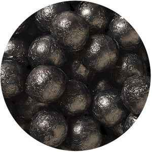 All City Candy Black Foiled Solid Milk Chocolate Balls - 2 LB Bulk Bag Bulk Wrapped SweetWorks Default Title For fresh candy and great service, visit www.allcitycandy.com