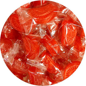 All City Candy Blood Orange Slices Hard Candy - 3 LB Bulk Bag Bulk Wrapped Atkinson's Candy For fresh candy and great service, visit www.allcitycandy.com