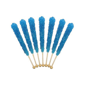 All City Candy Blue Raspberry Flavored Rock Candy Crystal Sticks - Tub of 36 Rock Candy Espeez For fresh candy and great service, visit www.allcitycandy.com