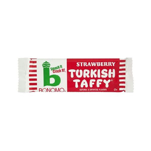 All City Candy Bonomo Strawberry Turkish Taffy Candy Bar 1.5 oz. Taffy Warrell Classic Company 1 Bar For fresh candy and great service, visit www.allcitycandy.com