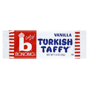 All City Candy Bonomo Vanilla Turkish Taffy Candy Bar 1.5 oz. Taffy Warrell Classic Company 1 Bar For fresh candy and great service, visit www.allcitycandy.com