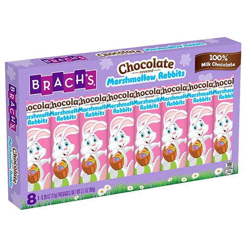 Brach's Chocolate Covered Marshmallow Rabbit .39 oz. 8 Pack For fresh candy and great service, visit us at www.allcitycandy.com