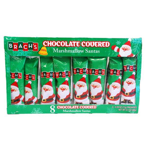 All City Candy Brach's Chocolate Covered Marshmallow Santas .39 oz. - Box of 8 Christmas Brach's Confections (Ferrara) Default Title For fresh candy and great service, visit www.allcitycandy.com