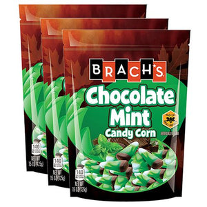 All City Candy Brach's Chocolate Mint Candy Corn - 15-oz. Bag Candy Corn Brach's Confections (Ferrara) Pack of 3 For fresh candy and great service, visit www.allcitycandy.com