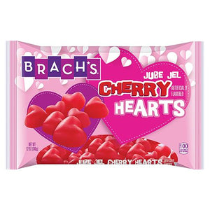 All City Candy Brach's Jube Jel Cherry Hearts Candy Valentine's Day Brach's Confections (Ferrara) 12-oz. Bag For fresh candy and great service, visit www.allcitycandy.com