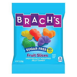 All City Candy Brach's Sugar Free Fruit Slices Jelly Candy - 3-oz. Bag Jelly Candy Brach's Confections (Ferrara) For fresh candy and great service, visit www.allcitycandy.com