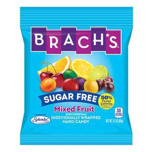 All City Candy Brach's Sugar Free Mixed Fruit Hard Candy - 3.5-oz. Bag Hard Brach's Confections (Ferrara) For fresh candy and great service, visit www.allcitycandy.com