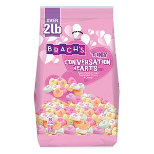 All City Candy Brach's Tiny Conversation Hearts Candy - 2 LB Bag Valentine's Day Brach's Confections (Ferrara) For fresh candy and great service, visit www.allcitycandy.com