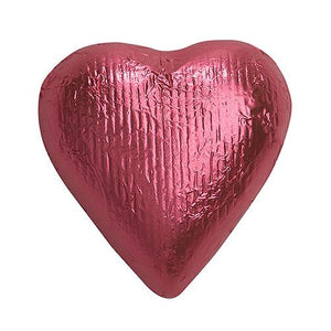 All City Candy Bright Pink Foiled Solid Milk Chocolate Hearts - 2 LB Bulk Bag Bulk Wrapped SweetWorks Default Title For fresh candy and great service, visit www.allcitycandy.com