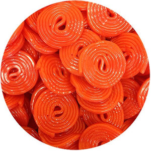 All City Candy Broadway Strawberry Licorice Wheels - 4.4 LB Bulk Bag Licorice Gerrit J. Verburg Candy For fresh candy and great service, visit www.allcitycandy.com