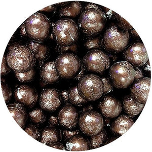 All City Candy Brown Foiled Solid Milk Chocolate Balls - 2 LB Bulk Bag Bulk Wrapped SweetWorks For fresh candy and great service, visit www.allcitycandy.com