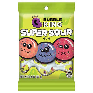 All City Candy Bubble King Super Sour Gum - 3.2-oz. Bag Gum/Bubble Gum SweetWorks For fresh candy and great service, visit www.allcitycandy.com