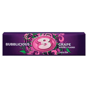 All City Candy Bubblicious Grape Bubble Gum 5-Piece Pack Gum/Bubble Gum Mondelez International 1 Pack For fresh candy and great service, visit www.allcitycandy.com