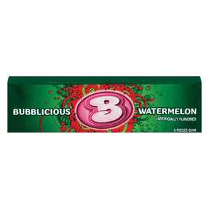 All City Candy Bubblicious Watermelon Bubble Gum 5-Piece Pack Gum/Bubble Gum Mondelez International 1 Pack For fresh candy and great service, visit www.allcitycandy.com