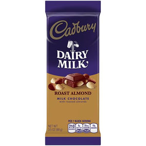 All City Candy Cadbury Dairy Milk Roast Almond Milk Chocolate Bar 3.5 oz. Candy Bars Hershey's For fresh candy and great service, visit www.allcitycandy.com