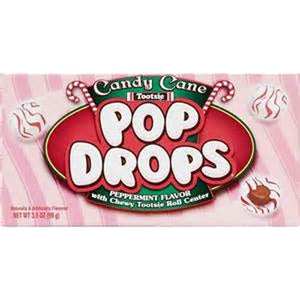 All City Candy Candy Cane Tootsie Pop Drops - 3.5-oz. Theater Box Hard Tootsie Roll Industries 1 Box For fresh candy and great service, visit www.allcitycandy.com