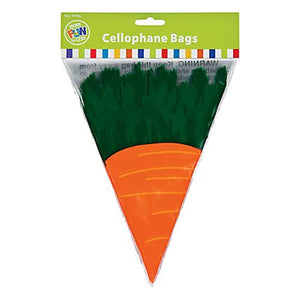 All City Candy Carrot Shaped Cellophane Treat Bags - Pack of 12 Candy Buffet Supplies Fun Express For fresh candy and great service, visit www.allcitycandy.com