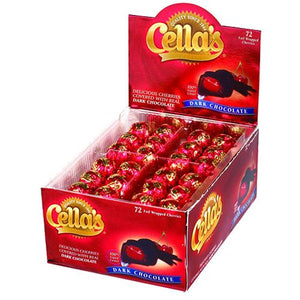 All City Candy Cella's Foil Wrapped Dark Chocolate Covered Cherries - Box of 72 Chocolate Tootsie Roll Industries For fresh candy and great service, visit www.allcitycandy.com
