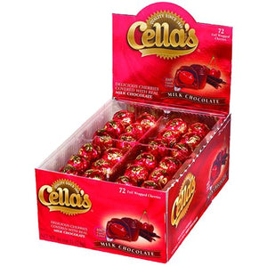 All City Candy Cella's Foil Wrapped Milk Chocolate Covered Cherries - Box of 72 Chocolate Tootsie Roll Industries For fresh candy and great service, visit www.allcitycandy.com