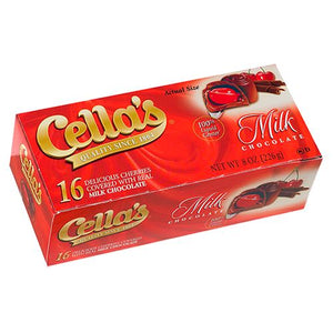 All City Candy Cella's Milk Chocolate Covered Cherries - 8-oz. Box Chocolate Tootsie Roll Industries For fresh candy and great service, visit www.allcitycandy.com