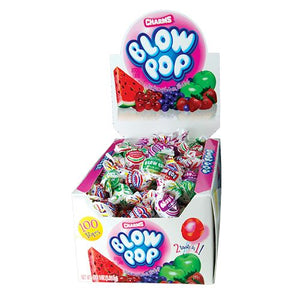 All City Candy Charms Assorted Fruit Flavor Blow Pops - Case of 100 Lollipops & Suckers Charms Candy (Tootsie) Default Title For fresh candy and great service, visit www.allcitycandy.com