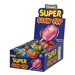 All City Candy Charms Assorted Super Blow Pops - Case of 48 Lollipops & Suckers Charms Candy (Tootsie) Default Title For fresh candy and great service, visit www.allcitycandy.com