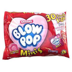 All City Candy Charms Blow Pop Mini's Valentine Snack Size Pouches - Bag of 30 Valentine's Day Charms Candy (Tootsie) For fresh candy and great service, visit www.allcitycandy.com