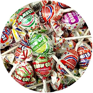 All City Candy Charms Blow Pops Assorted Fruit Flavor Lollipops - 3 LB Bulk Bag Bulk Wrapped Charms Candy (Tootsie) For fresh candy and great service, visit www.allcitycandy.com