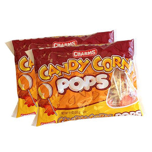 All City Candy Charms Candy Corn Pops - 11-oz. Bag Lollipops & Suckers Charms Candy (Tootsie) Pack of 2 For fresh candy and great service, visit www.allcitycandy.com
