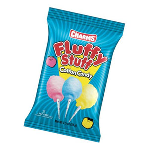 All City Candy Charms Fluffy Stuff Cotton Candy Cotton Candy Charms Candy (Tootsie) Case of 12 2.5-oz. Bags For fresh candy and great service, visit www.allcitycandy.com