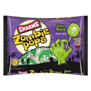 All City Candy Charms Sour Apple Zombie Pops - 9.35-oz. Bag Halloween Charms Candy (Tootsie) For fresh candy and great service, visit www.allcitycandy.com