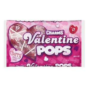 All City Candy Charms Valentine Pops Cherry Lollipops - 11.5-oz. Bag Valentine's Day Charms Candy (Tootsie) Default Title For fresh candy and great service, visit www.allcitycandy.com