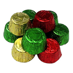 All City Candy Christmas Foiled Peanut Butter Cups - 3 LB Bulk Bag Christmas R.M. Palmer Company Default Title For fresh candy and great service, visit www.allcitycandy.com