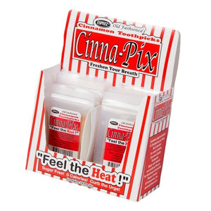 All City Candy Cinna-Pix Cinnamon Flavored Toothpicks Novelty Espeez Case of 24 For fresh candy and great service, visit www.allcitycandy.com