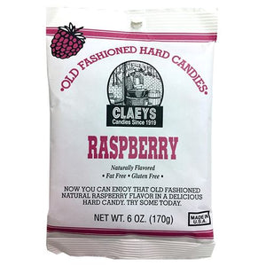 All City Candy Claeys Raspberry Old Fashioned Hard Candies - 6-oz. Bag Hard Claeys Candies For fresh candy and great service, visit www.allcitycandy.com