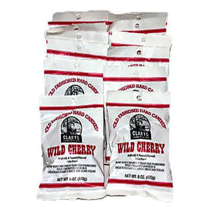All City Candy Claeys Wild Cherry Old Fashioned Hard Candies - 6-oz. Bag Hard Claeys Candies Case of 12 For fresh candy and great service, visit www.allcitycandy.com