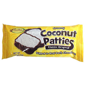 All City Candy Classic Original Coconut Patties 2-Pack 2.5-oz. Candy Bars Anastasia Confections 1 Pack For fresh candy and great service, visit www.allcitycandy.com