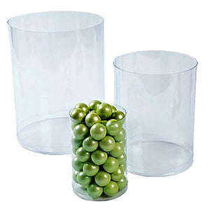 All City Candy Clear Plastic Cylinder Candy Buffet Buckets - Set of 6 Candy Buffet Supplies Fun Express Default Title For fresh candy and great service, visit www.allcitycandy.com