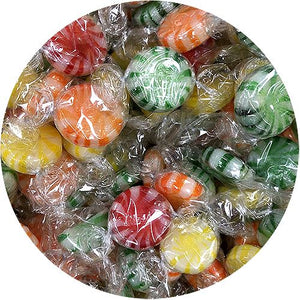 All City Candy Colombina Assorted Fruits Starlight Hard Candy - 3 LB Bulk Bag Bulk Wrapped Colombina For fresh candy and great service, visit www.allcitycandy.com